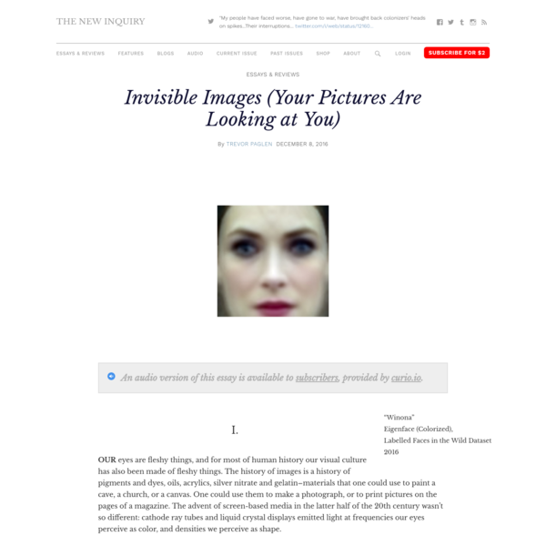 Invisible Images (Your Pictures Are Looking at You)