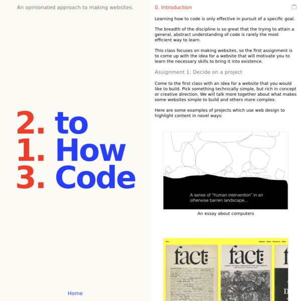 How To Code - 0: Intro