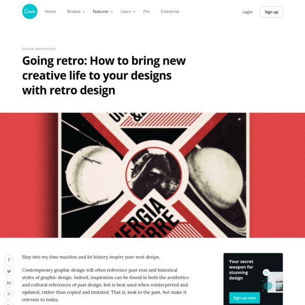 Going retro: How to bring new creative life to your designs with retro design - Learn