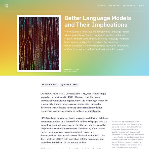Better Language Models and Their Implications