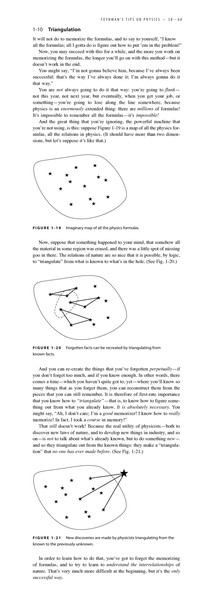 Triangulation, Feynman's Tips on Physics