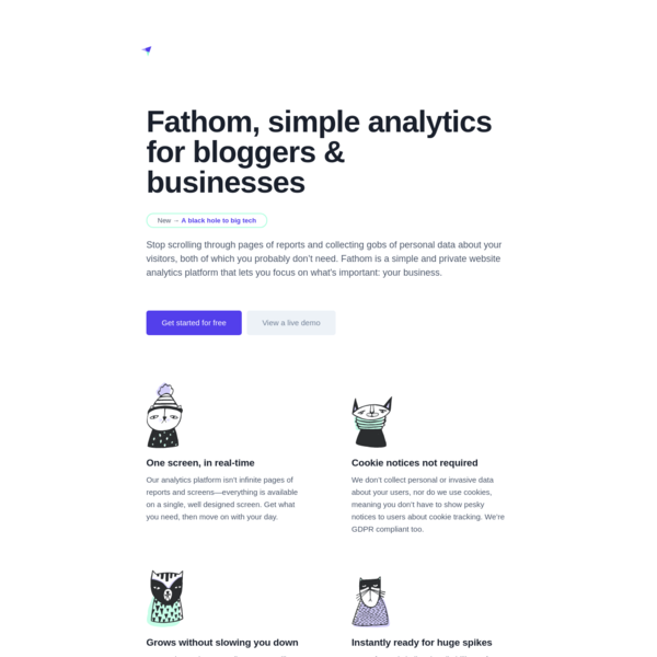 Fathom, simple analytics for bloggers & businesses