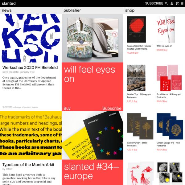 Slanted.de - News, Publisher, Shop - slanted