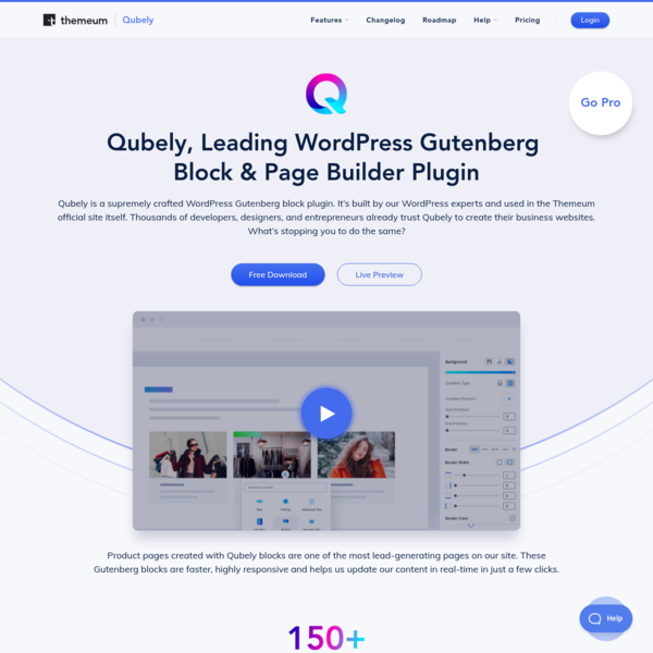 Qubely #1 WordPress Gutenberg Blocks and Page Builder Plugin