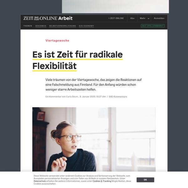 Viertagewoche: Es ist Zeit für radikale Flexibilität