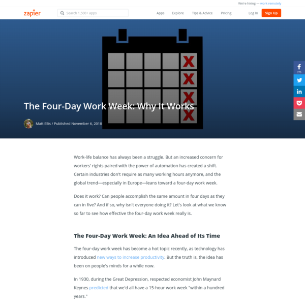 The Four-Day Work Week: Why It Works