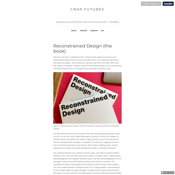 Reconstrained Design (the book)