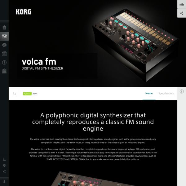 volca fm - DIGITAL FM SYNTHESIZER | KORG (USA)