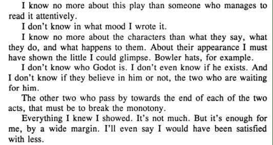 On <i>Waiting for Godot</i><br>https://twitter.com/seanjcostello/status/720217687138418689