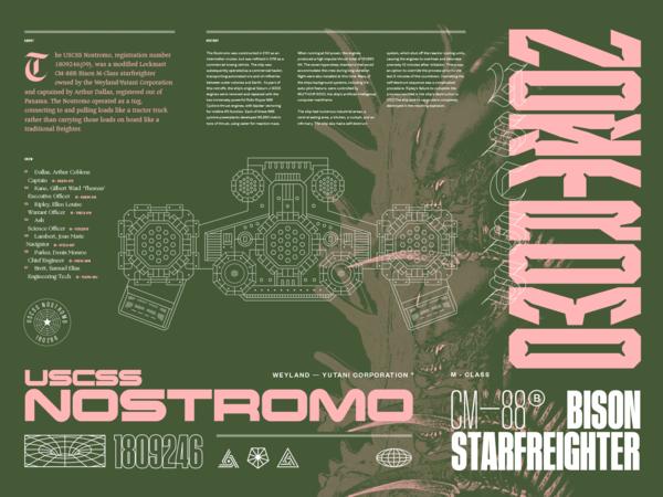 USCSS NOSTROMO by Matt Yerman