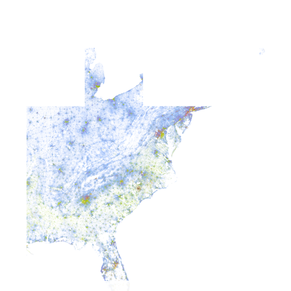 The Racial Dot Map: One Dot Per Person for the Entire U.S.