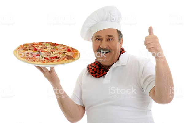 chef-with-italian-pizza-picture-id178368198