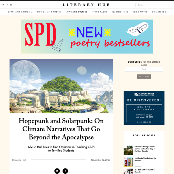 Hopepunk and Solarpunk: On Climate Narratives That Go Beyond the Apocalypse