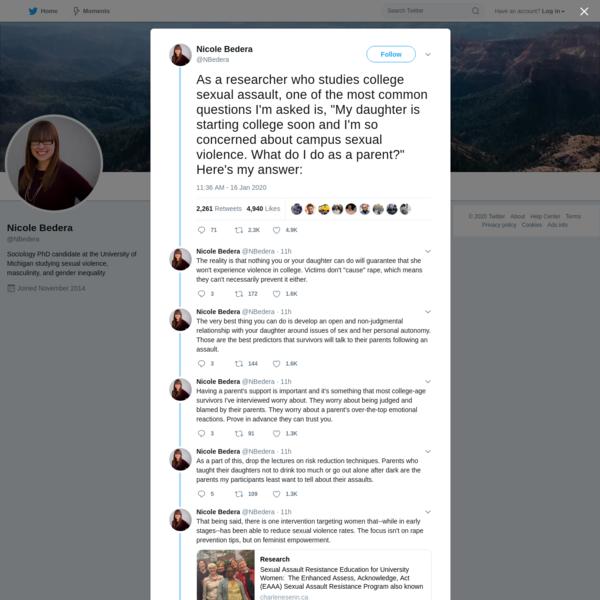 Nicole Bedera on Twitter
