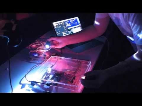 Live performance using the light interface at the Beam @ NIME night at XOYO in London 1st July 2014.