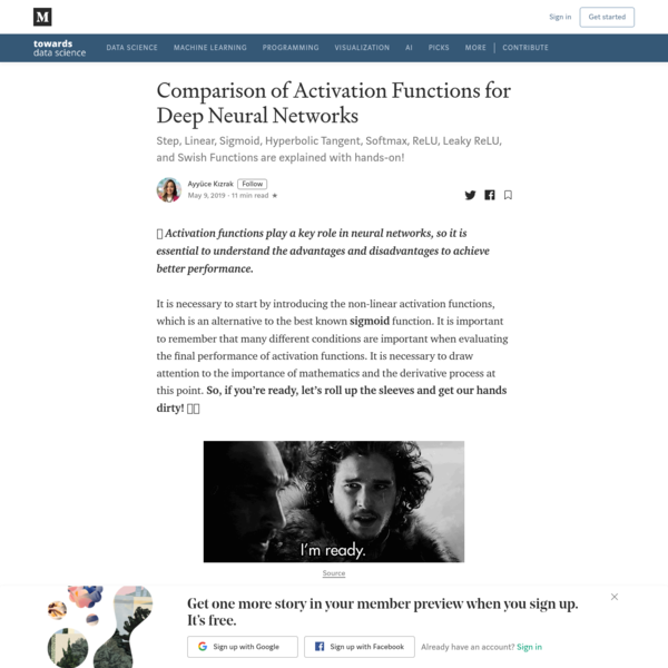 Comparison of Activation Functions for Deep Neural Networks