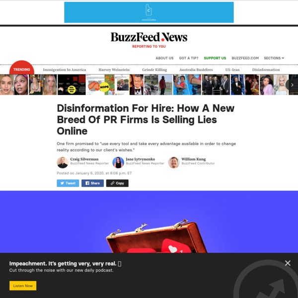 Disinformation For Hire: How A New Breed Of PR Firms Is Selling Lies Online