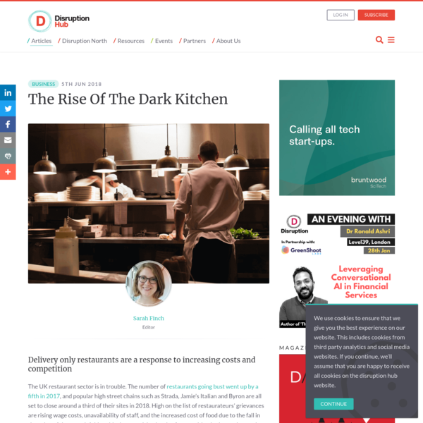 The Rise Of The Dark Kitchen - Disruption Hub
