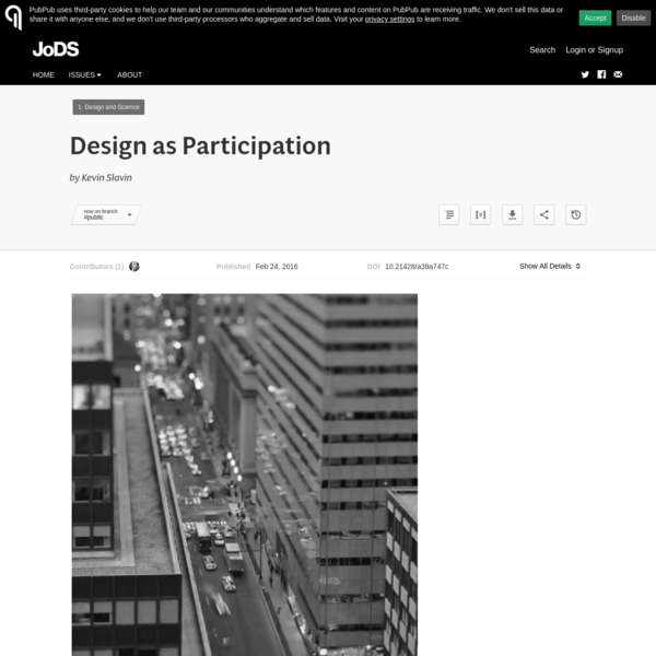 Design as Participation · Journal of Design and Science