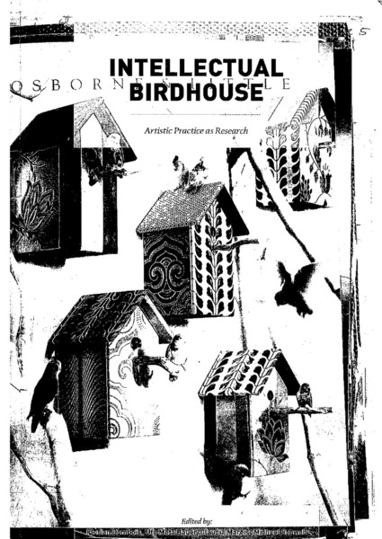 florian dombois intellectual birdhouse artistic practice as research