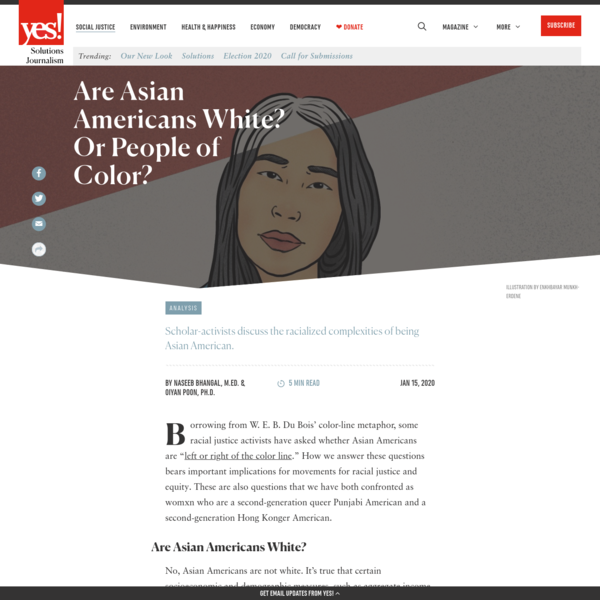 Analysis | Are Asian Americans White? Or People of Color?