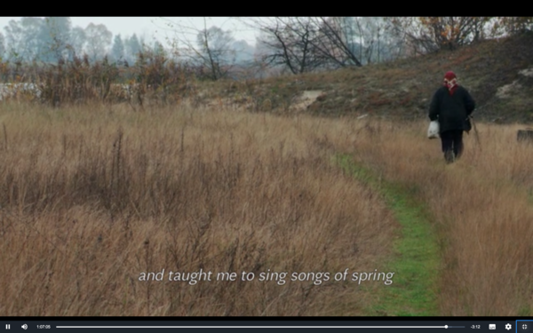 and taught me to sing songs of spring
