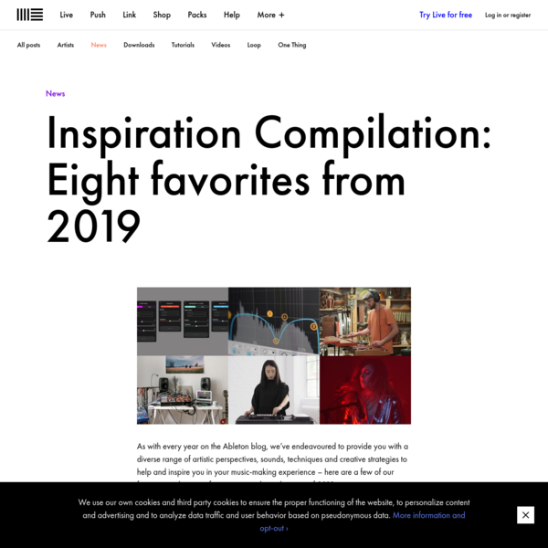Inspiration Compilation: Eight favorites from 2019