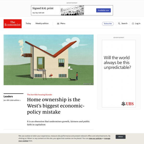 Home ownership is the West's biggest economic-policy mistake