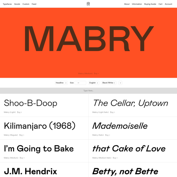 Mabry - Colophon Foundry