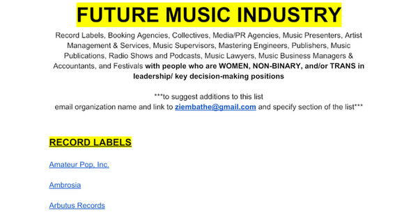 FUTURE MUSIC INDUSTRY