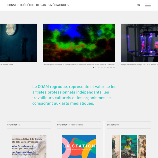 Accueil - Conseil québécois des arts médiatiques