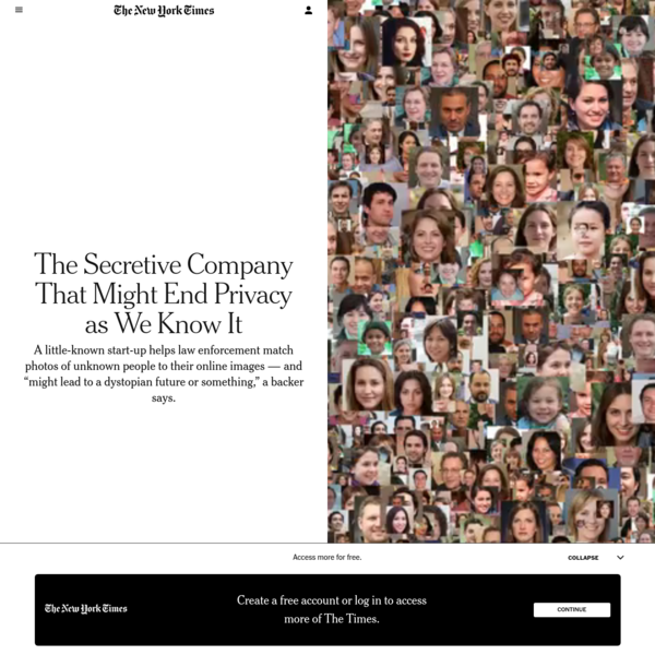 The Secretive Company That Might End Privacy as We Know It