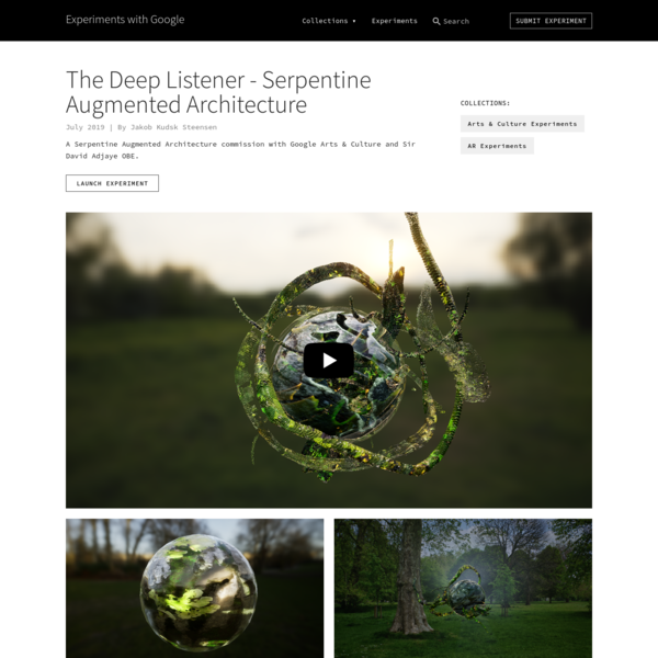 The Deep Listener - Serpentine Augmented Architecture by Jakob Kudsk Steensen | Experiments with Google
