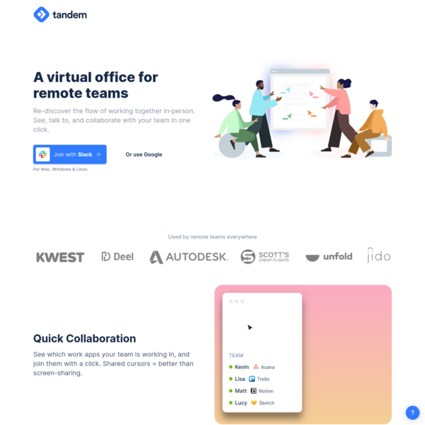 A virtual office for remote teams