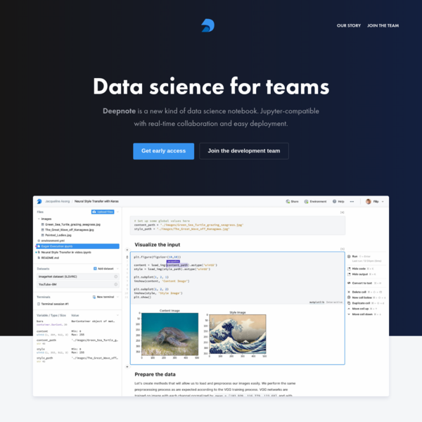 Data science for teams