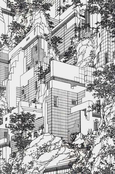 """Lebbeus Woods, from the """"Houses"""" series (1979)"""