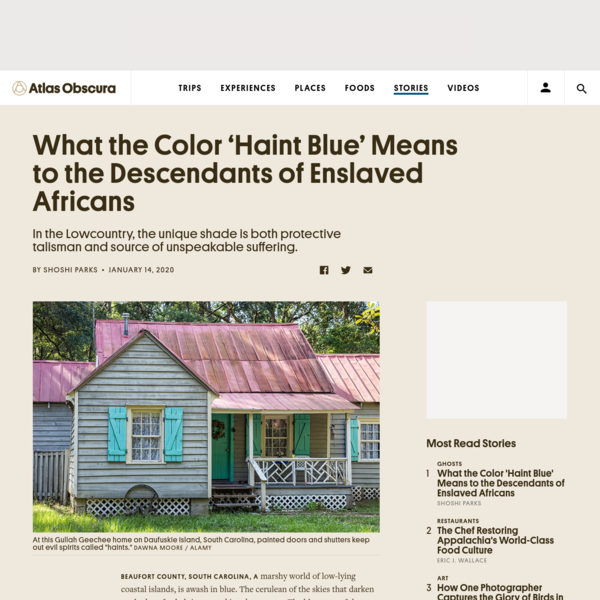 What the Color 'Haint Blue' Means to the Descendants of Enslaved Africans