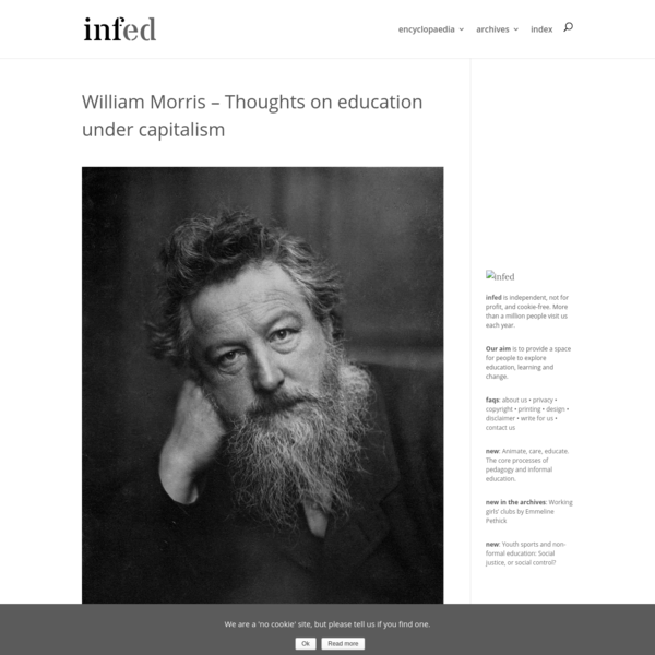 William Morris - Thoughts on education under capitalism