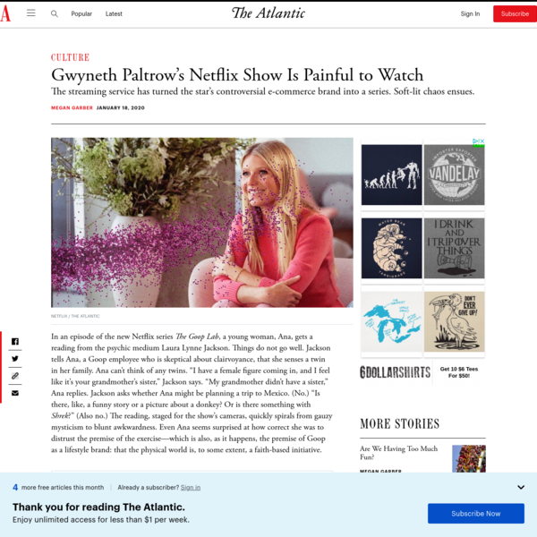 Gwyneth Paltrow's Netflix Show Is Painful to Watch