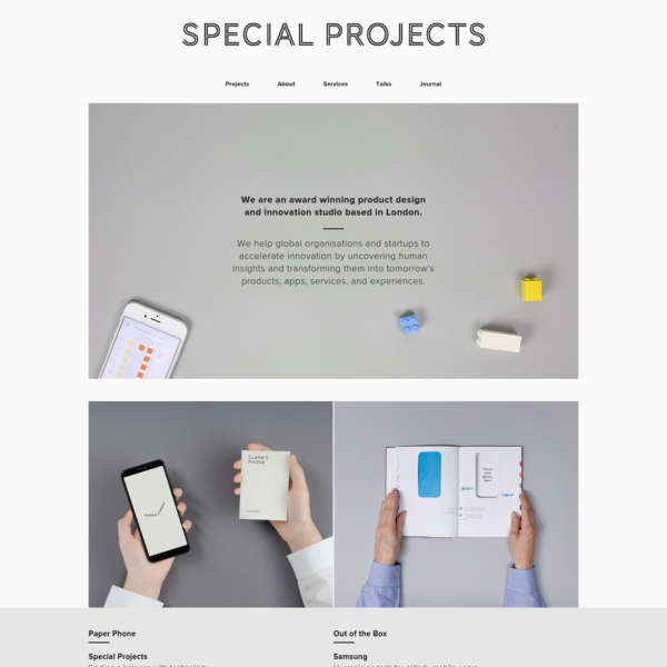 Special Projects - Home
