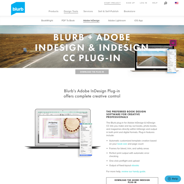 Adobe InDesign & InDesign CC Plug-In Download - Book Design Software | Blurb
