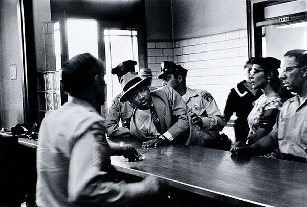 This image. Of Coretta bearing witness-an active strategy of bravery and stillness. Of King fighting for freedoms by demonst...