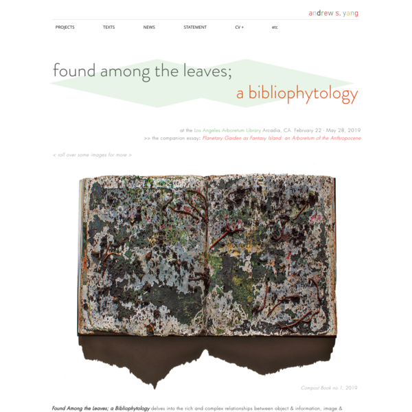 Found Among the Leaves; a Bibliophytology