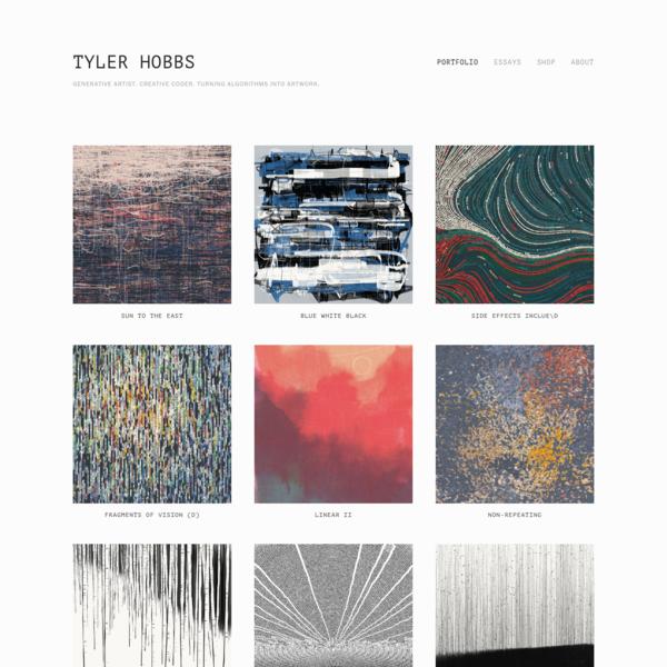 Tyler Hobbs | Algorithmic Artwork