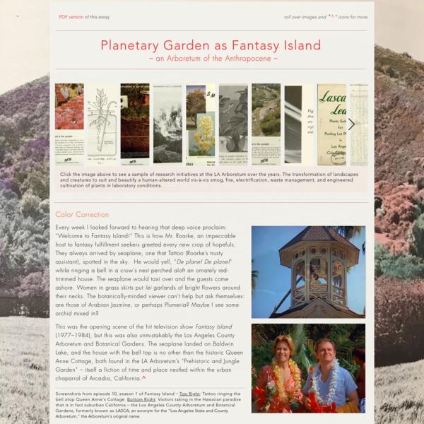 Planetary Garden as Fantasy Island