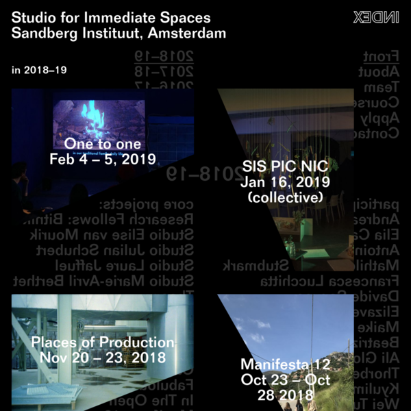 Studio for Immediate Spaces Sandberg Instituut, Amsterdam
