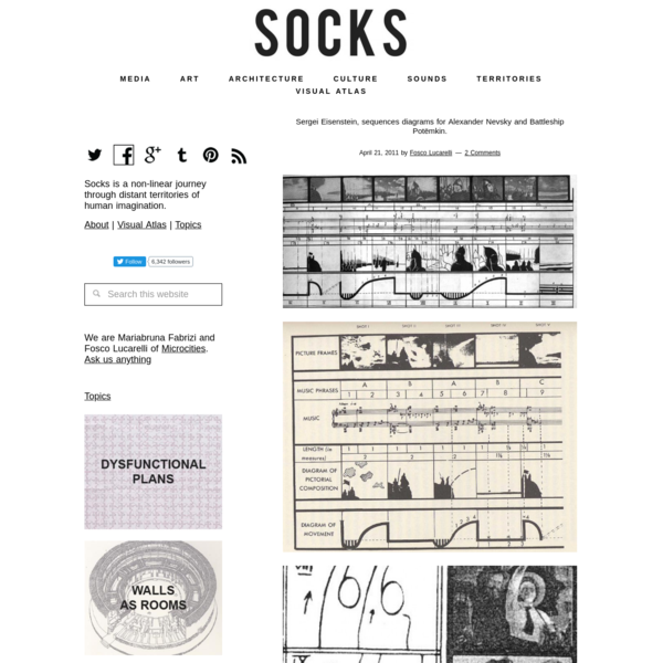 Sergei Eisenstein, sequences diagrams for Alexander Nevsky and Battleship Potëmkin. – SOCKS