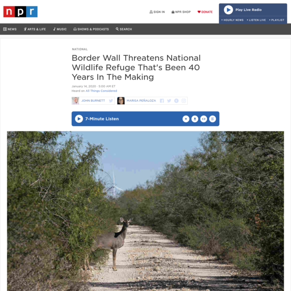 Border Wall Threatens National Wildlife Refuge That's Been 40 Years In The Making