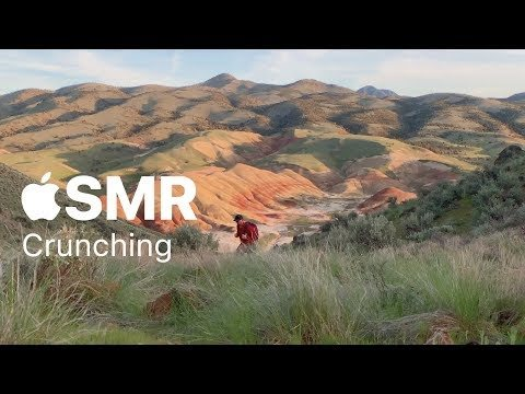 Apple ASMR - Crunching sounds on the trail