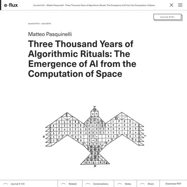 Three Thousand Years of Algorithmic Rituals: The Emergence of AI from the Computation of Space